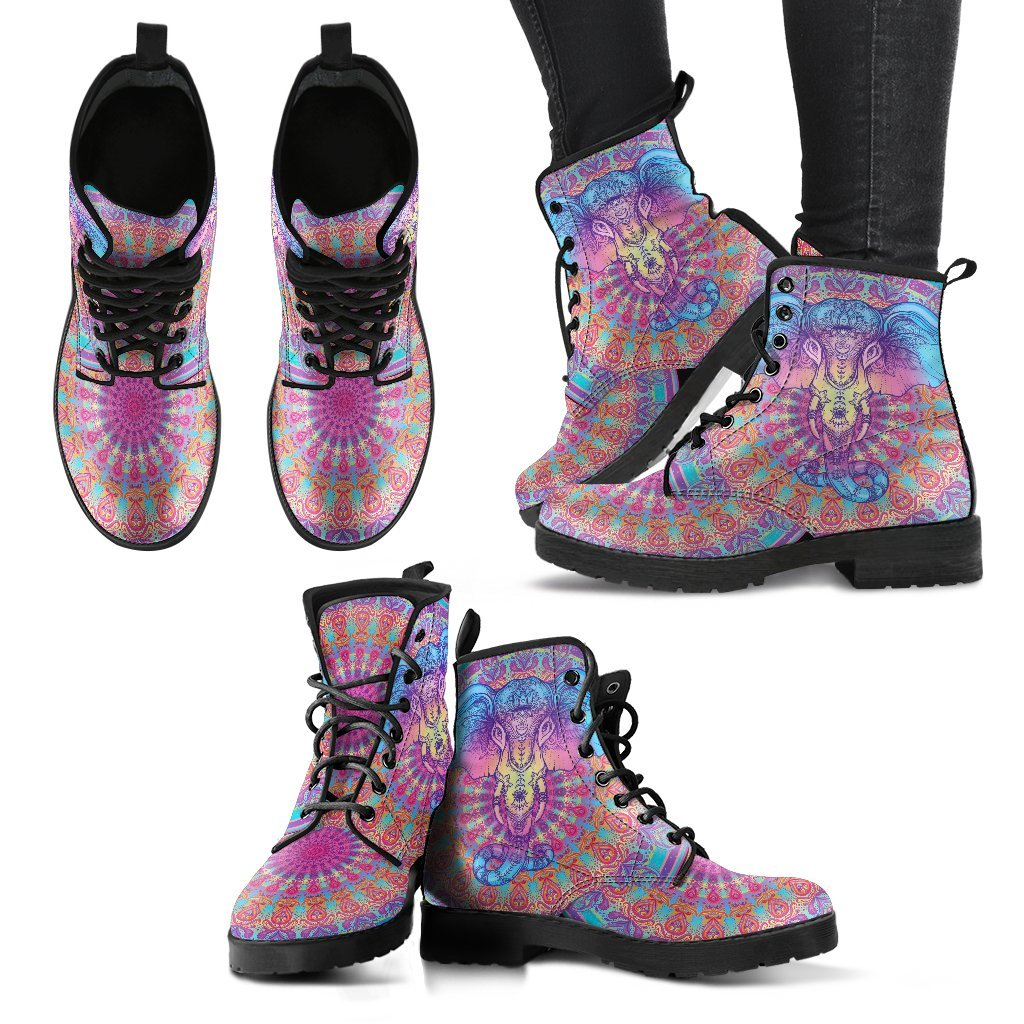 LilliPhant Mandala Elephant Women's Leather Boots