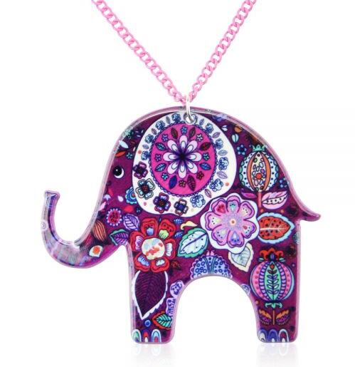 LilliPhant necklace Acrylic Elephant Necklace Acrylic Elephant Necklace