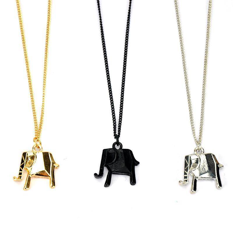 LilliPhant necklace Retro Lucky Elephant Necklace - Gold, Silver or Black Plated!