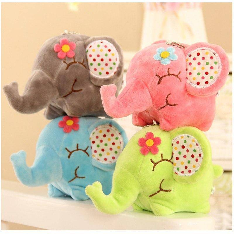 LilliPhant Pretty Floral Stuffed Elephant - Available in 5 colors!