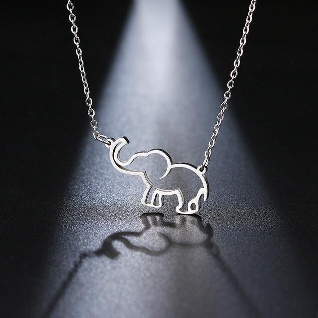 LilliPhant Silver Origami elephant necklaces