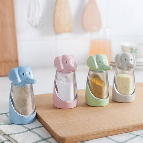 LilliPhant special Cute Elephant Salt/Pepper Shaker - Available in 4 Colors!