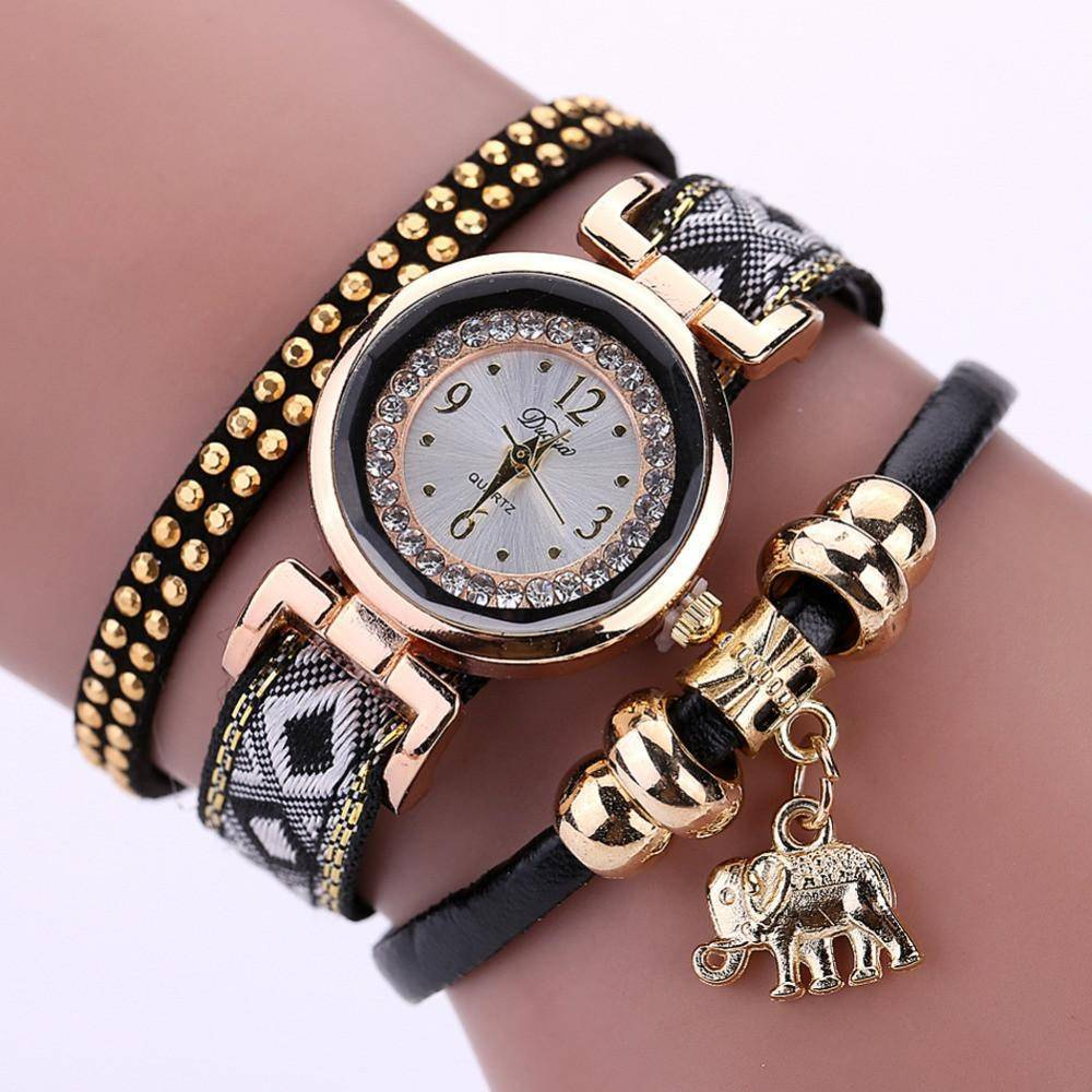 LilliPhant Watch Black Luxury Elephant Watch - Available in 5 colors!