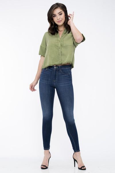 "Susan ""Basic High Rise Jeans"""
