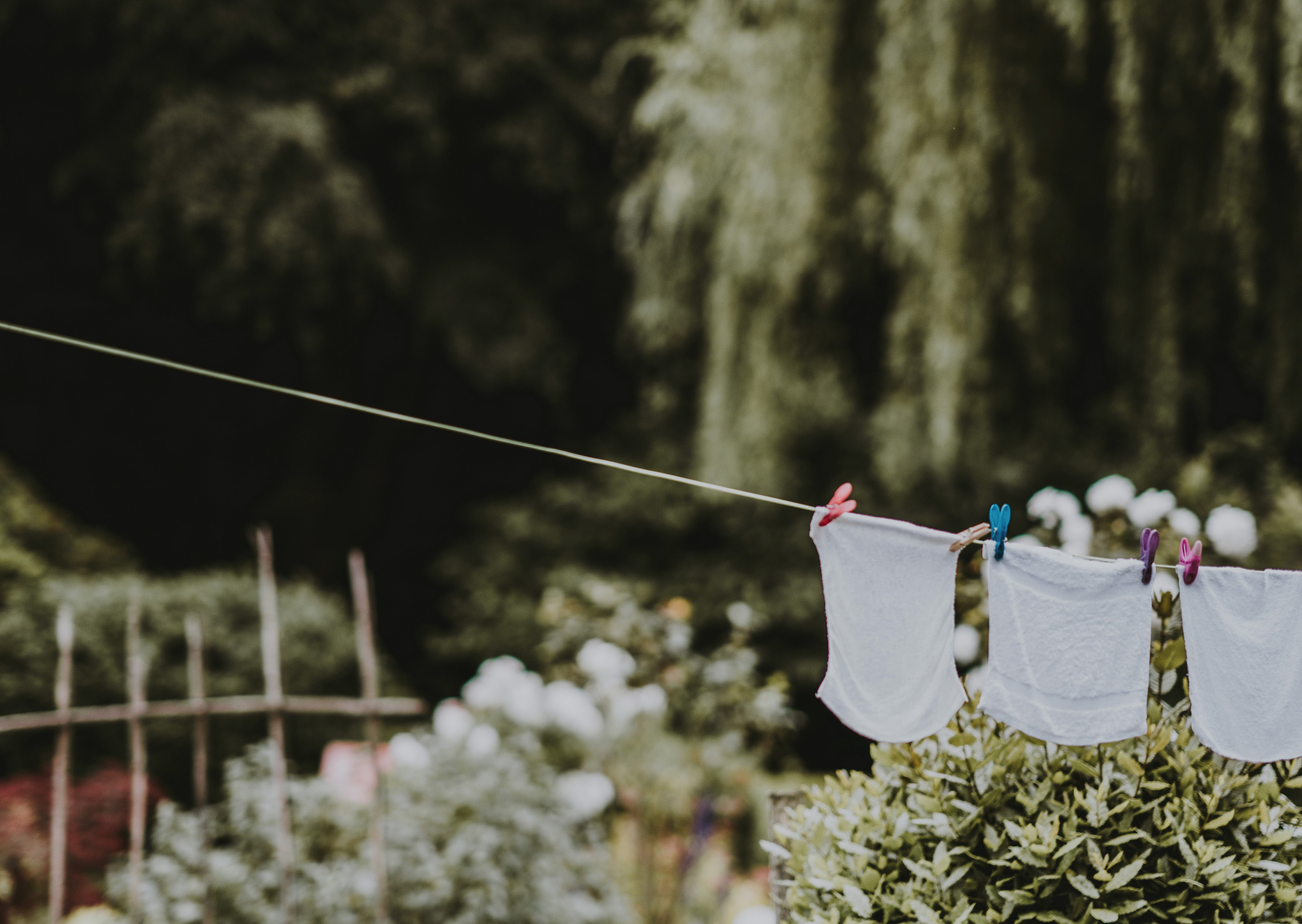 Washing on line outside
