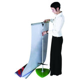 "Rainbow, 31.5"" Telescopic Double Sided Banner Stand with Padded Carry Bag, Green"