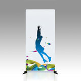 "Racer, Tubular Banner Stand with Dye-sub Fabric Graphic, 33.5"" w x 78.75"" h"