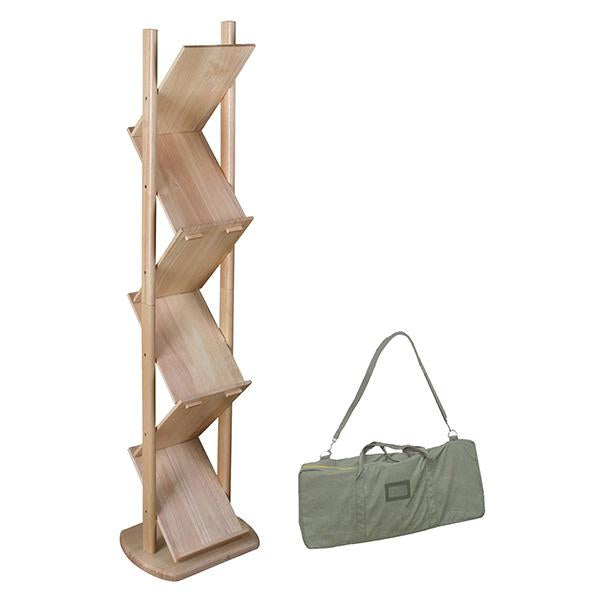 Ranger, Bamboo Literature Rack in Padded Canvas Carry Bag