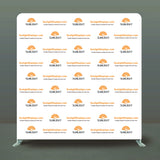 Trade Show Booth Event Backwall Swift Step & Repeat Stand w/ Dye-sub Fabric Backdrop, 10'w x 10'h