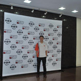Traveler Max Telescopic Step and Repeat Banner Stand w/ Dye-sub Fabric Backdrop, 10'w x 10'h