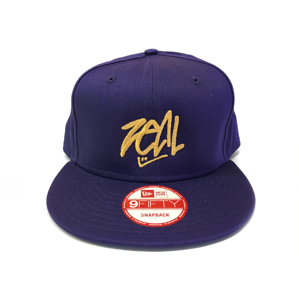 Zeal Hockey-New Era 39Thirty Snapback Hat - Purple and Gold