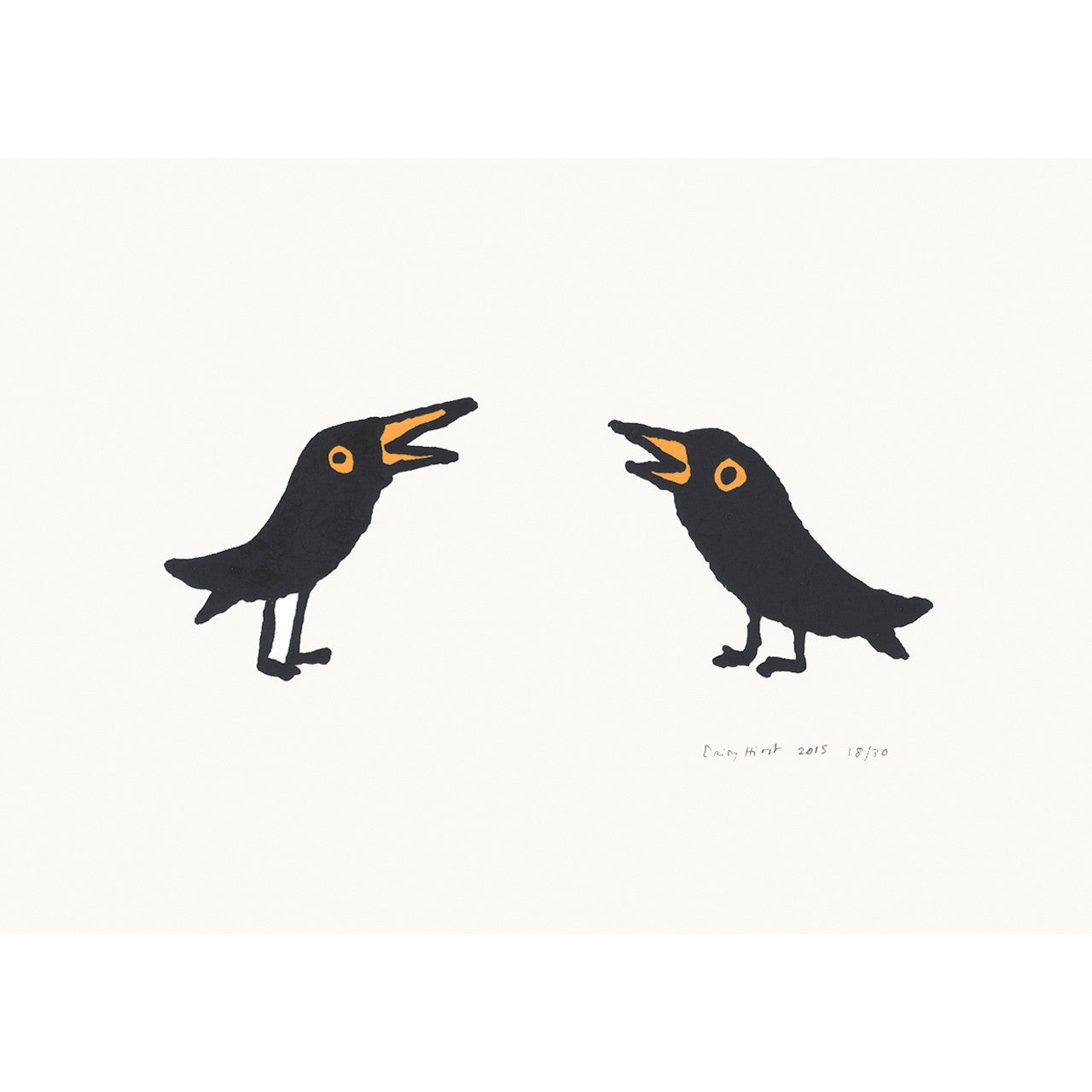 Two Blackbirds Print