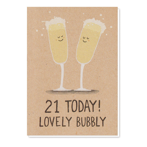 21st Birthday Champagne Card