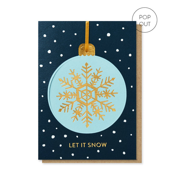 Let It Snow Bauble Christmas card by Stormy Knight
