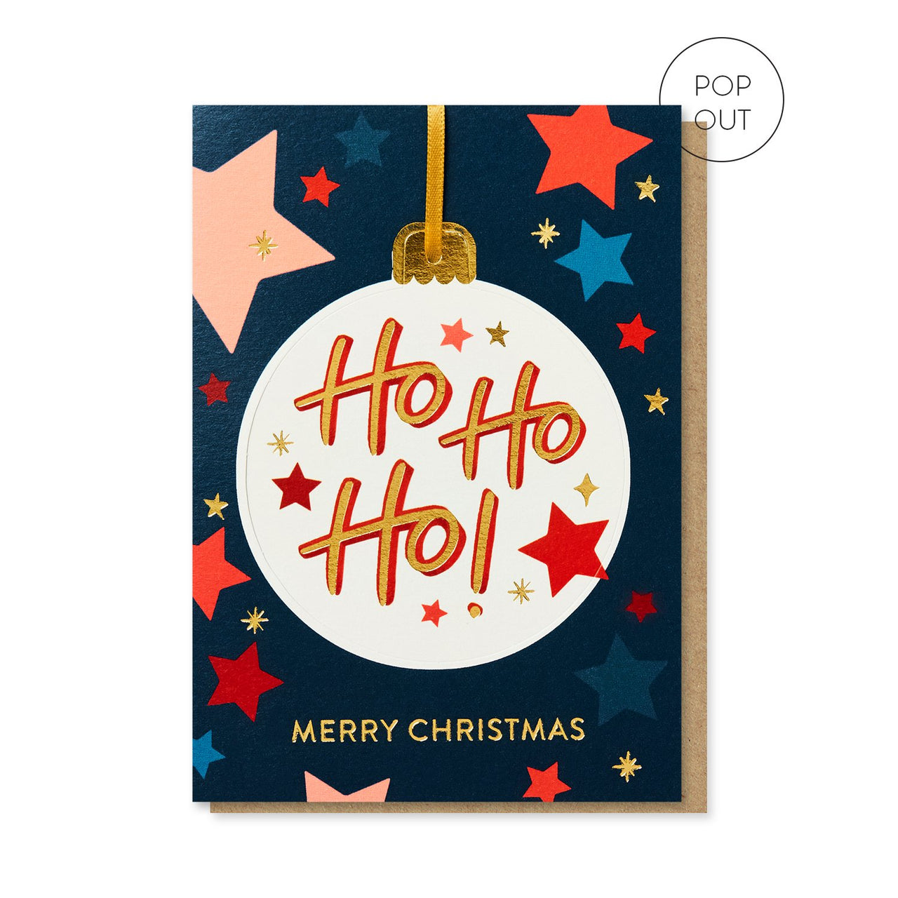 Ho Ho Ho Bauble Christmas card by Stormy Knight