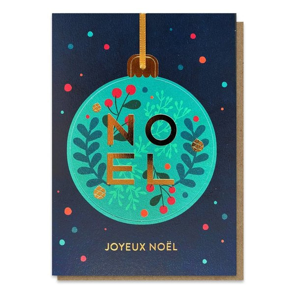 Joyeux Noel Pop-out Bauble Card