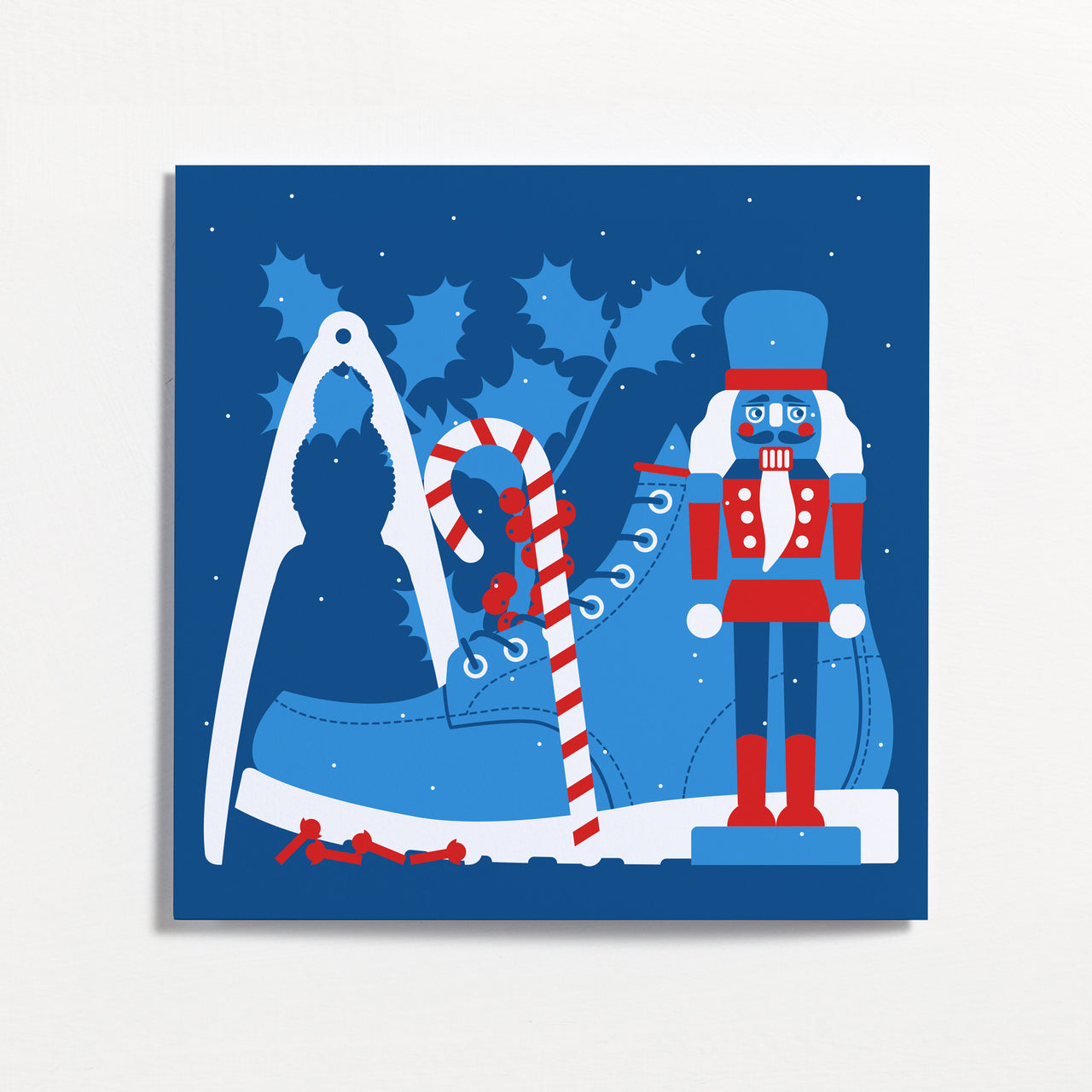 Nutcracker Winter Frieze Christmas Card by Crispin Finn