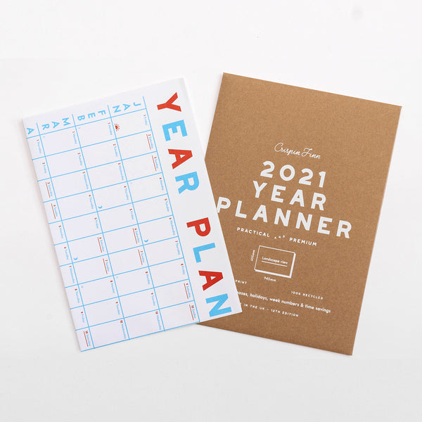 2021 year planer wall calendar by Crispin Finn at Soma Gallery, Bristol