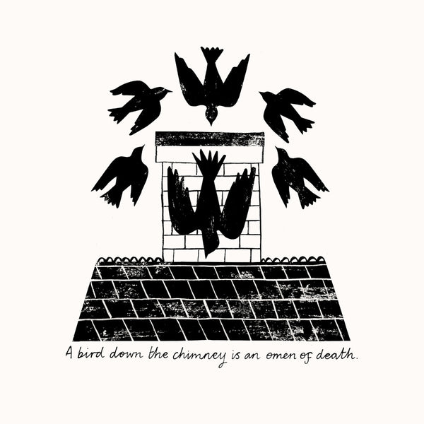 Bird Down Chimney Print