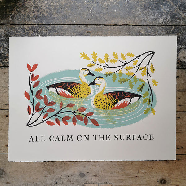 All Calm on the Surface Print