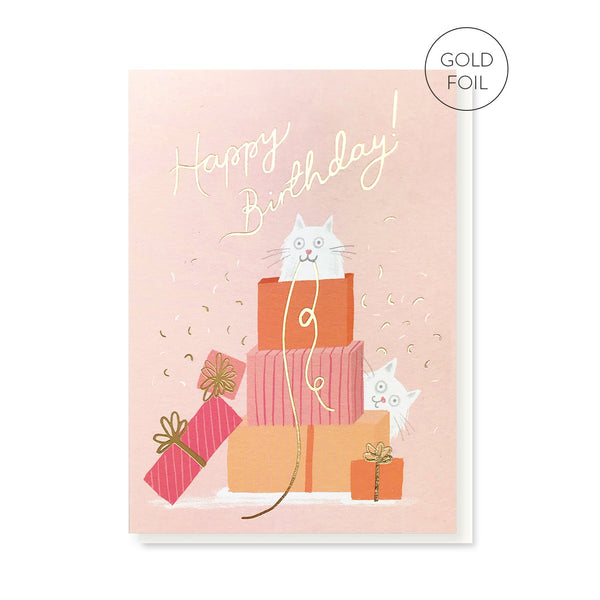 Purfect Presents birthday card by Stormy Knight