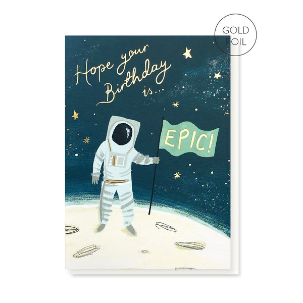 Epic Spaceman Birthday card by Stormy Knight