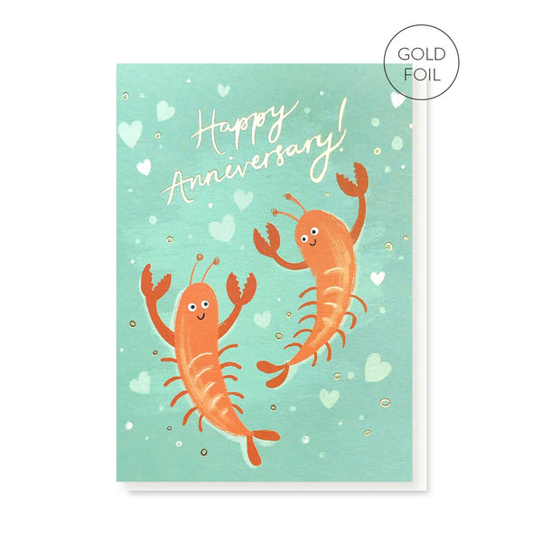 Lobsters anniversary greeting card by Stormy Knight