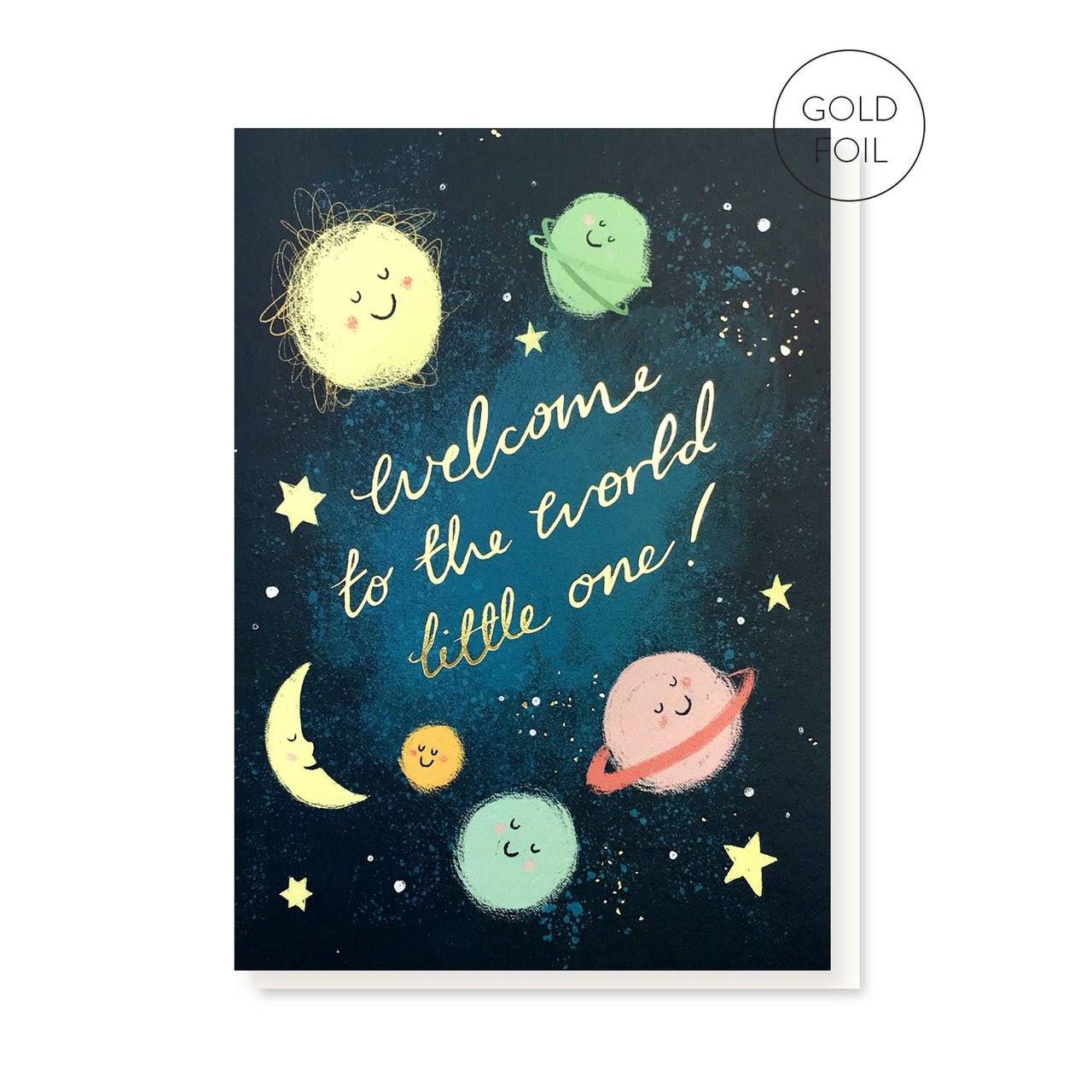 Welcome Little One new baby greeting card by Stormy Knight
