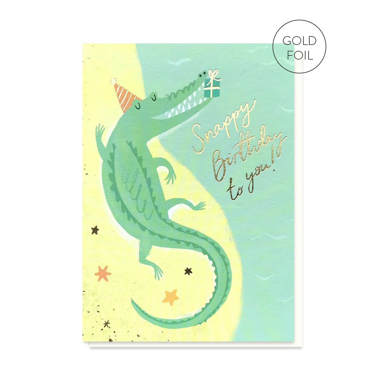 Snappy Birthday crocodile alligator greeting card by Stormy Knight