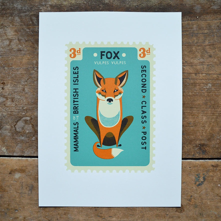 Fox Stamp Print by Tom Frost