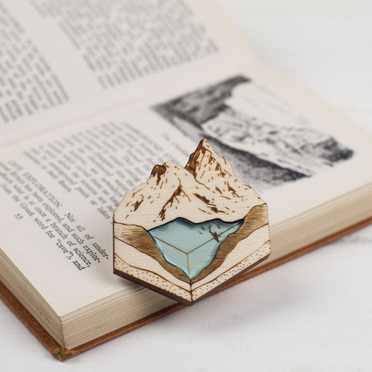 'Glacial Lake' brooch by Kate Rowland