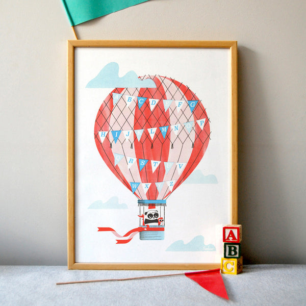 Hot Air Alphabet Print