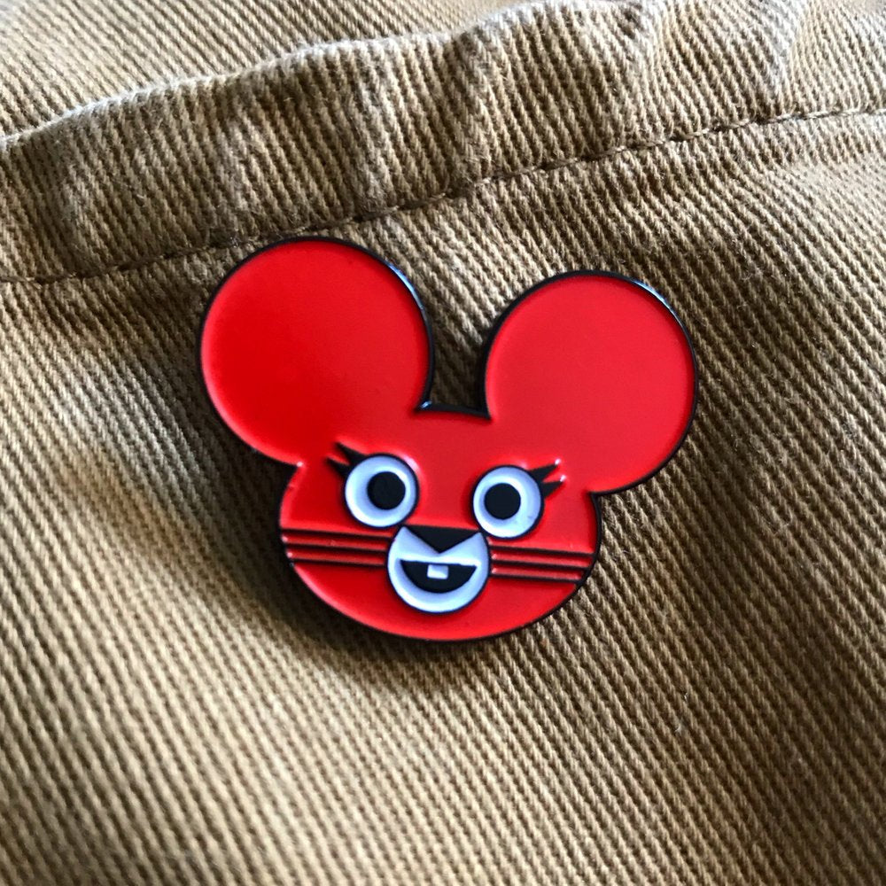 Boo the Mouse Enamel Pin Badge