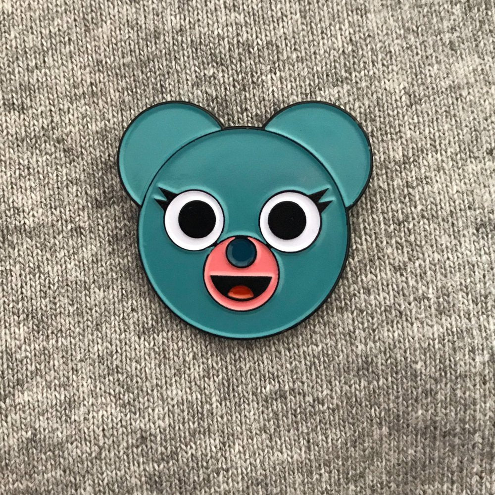 Wilbur the Bear Enamel Pin Badge