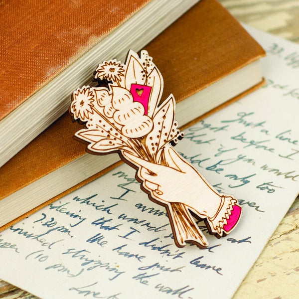 Love Letter Bouquet Brooch