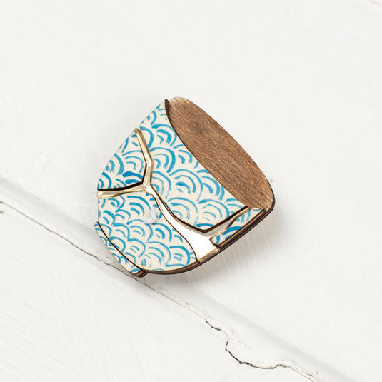 'Kintsugi Bowl' brooch by Kate Rowland