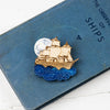 'Pirate Ship' brooch by Kate Rowland