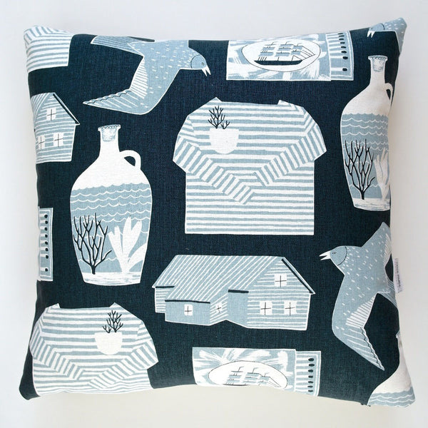 Nautical Objects cushion by Rosie Moss