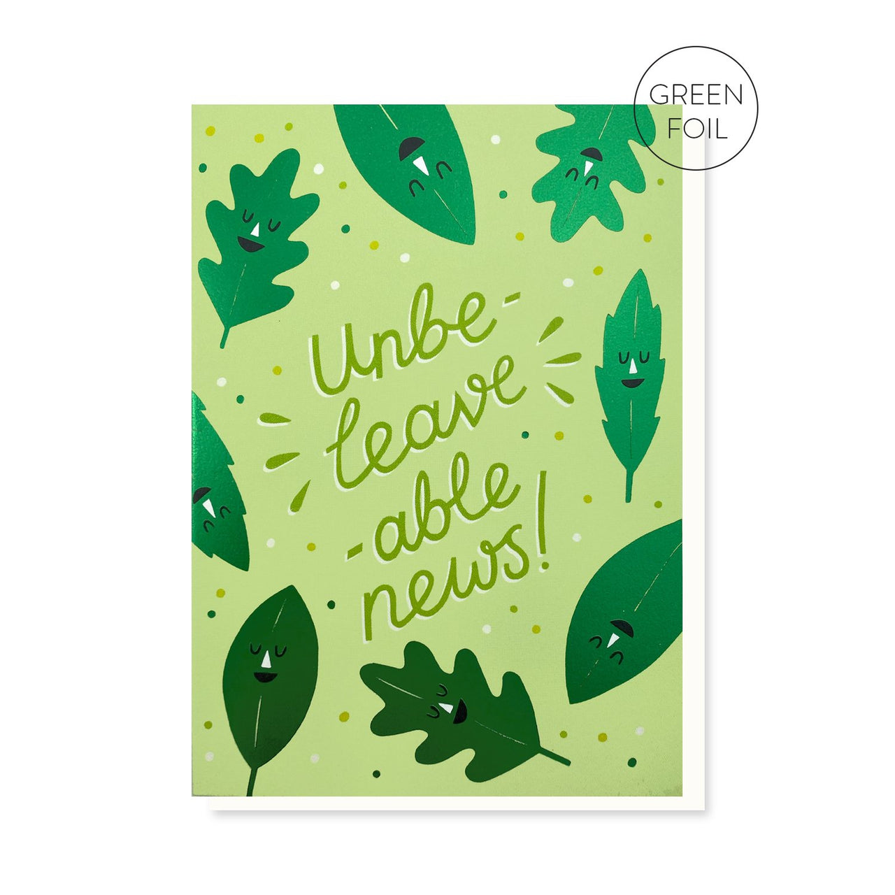Unbe-leave-able News Card