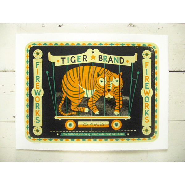 Tiger Brand Print by Tom Frost