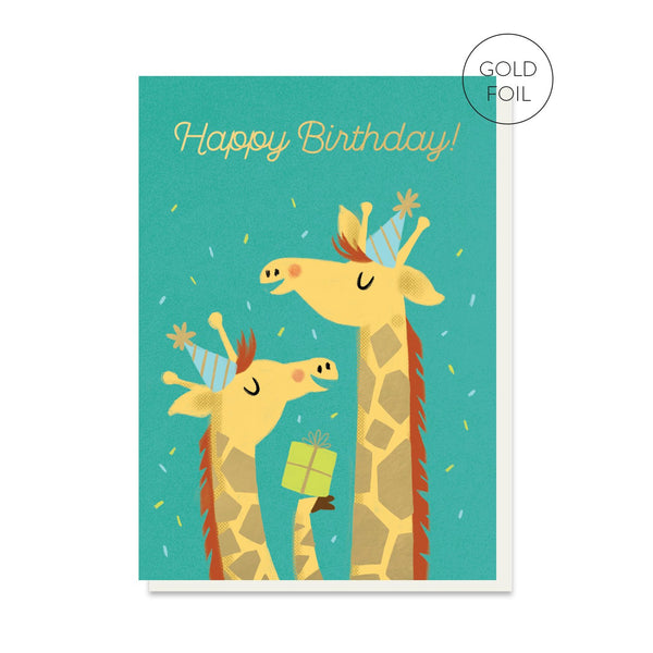 Giraffe Gift Birthday Card