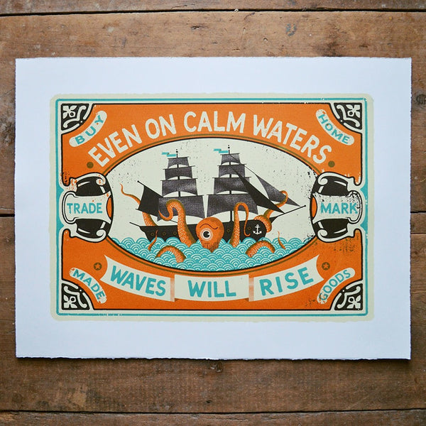 Waves Will Rise Print by Tom Frost