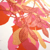 Autumn Leaves Orange print by Fiona Hamilton
