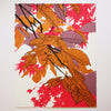 Autumn Leaves Pink print by Fiona Hamilton