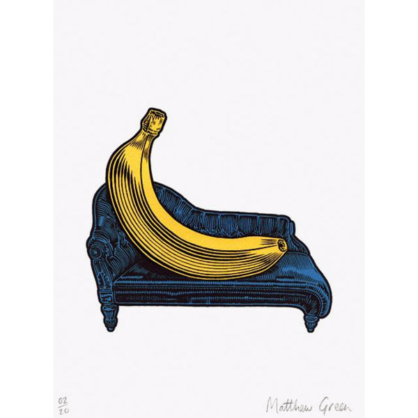 A Relaxed Banana Blue Print