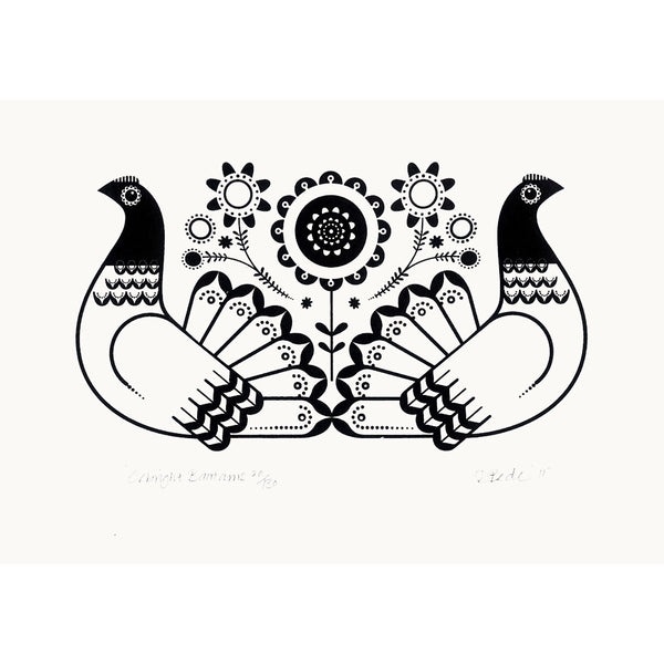 Seabright Bantams Black Print