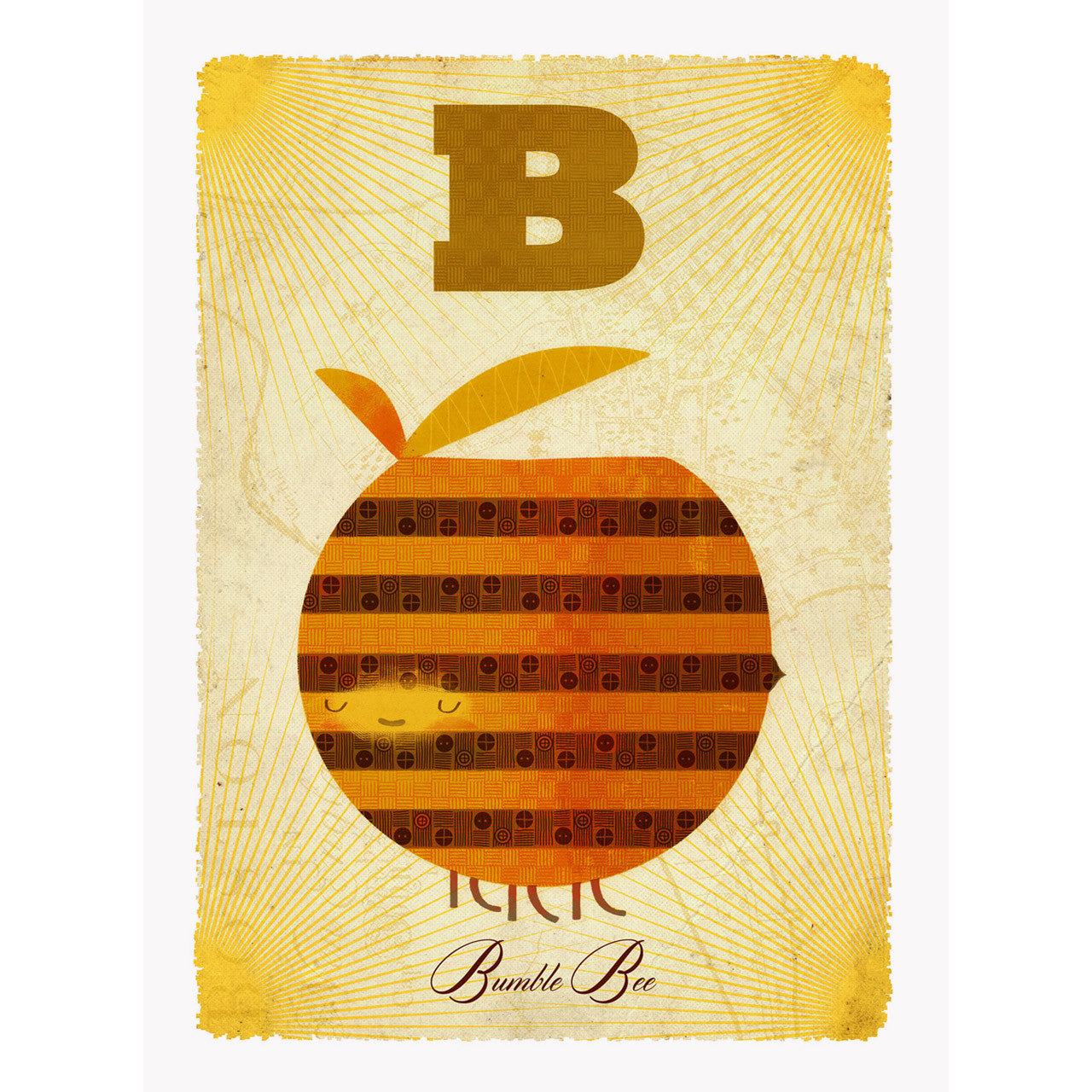 Bee print by Graham Carter