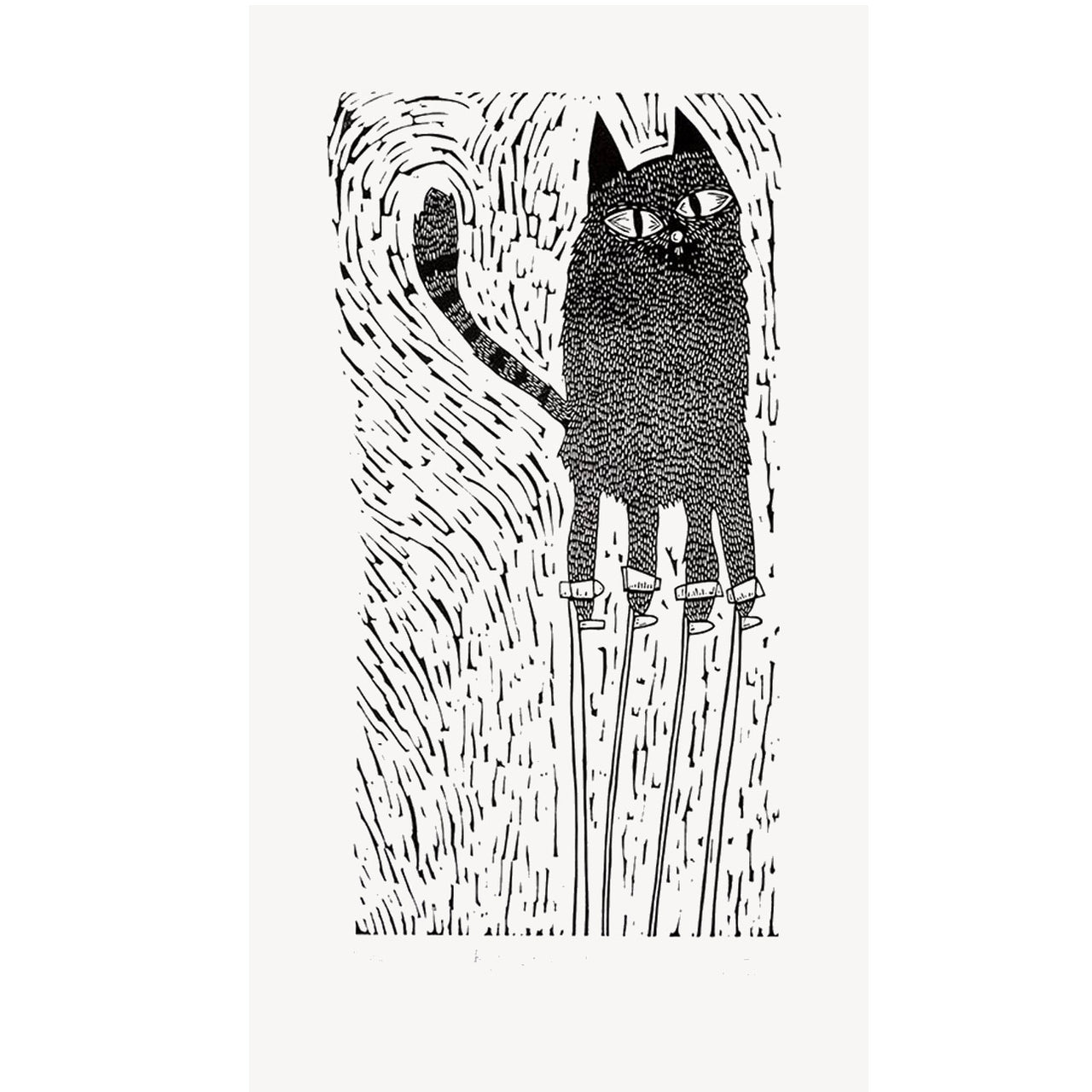 Big Cat on Stilts Print