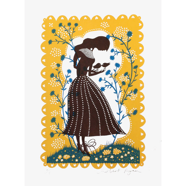 Bird Lady print by Rob Ryan