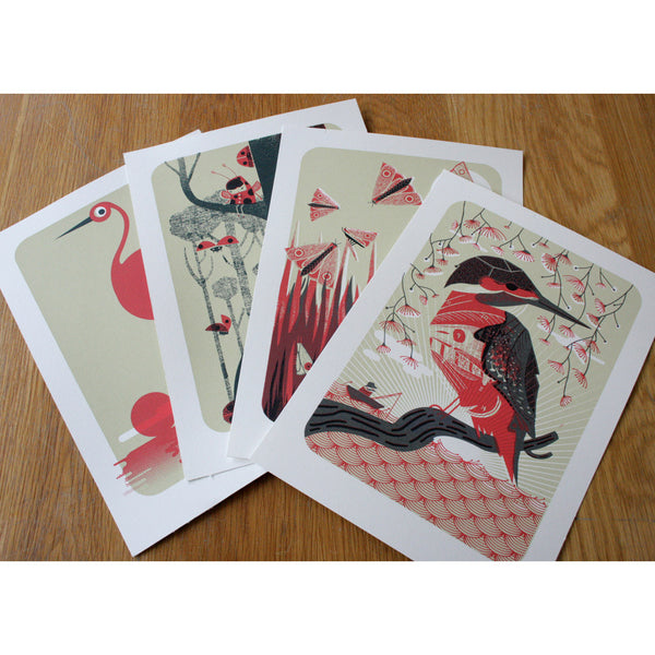 Birds & Bugs Box Set of Prints by Graham Carter